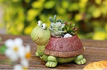 Binoster Plant Pots Tortoise Cute Animal Shaped Cartoon Succulent Vase Flower Pots,Container,Home Decoration Planter Pots,Desk Mini Ornament