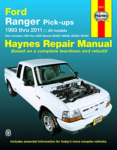 Haynes Repair Manual: Ford Ranger Pick-Ups 1993 thru 2011, also includes 1994 thru 2009 Mazda B2300, B2500, B3000, B4000]()