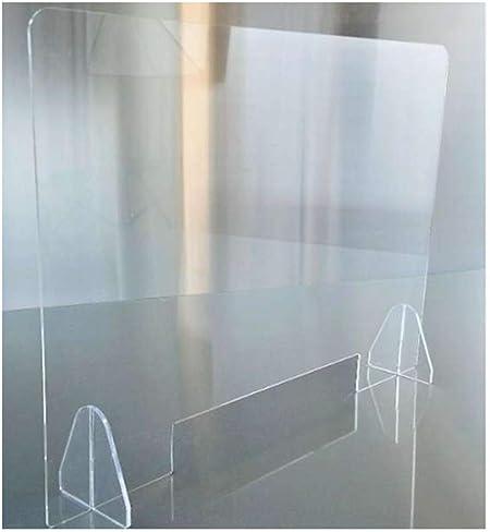 HSBAIS Mampara De ProteccióN, Mampara mostrador Transparente Mampara Pantalla Proteccion Plexiglás Acrílico Pantalla de protección Anti contagio y protección,50x60cm: Amazon.es: Hogar