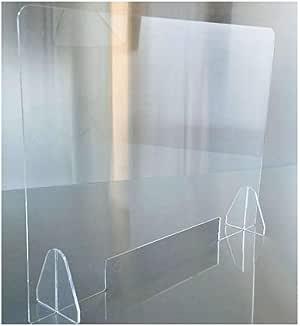 HSBAIS Mampara De ProteccióN, Mampara mostrador Transparente Mampara Pantalla Proteccion Plexiglás Acrílico Pantalla de protección Anti contagio y protección,40x40cm: Amazon.es: Hogar