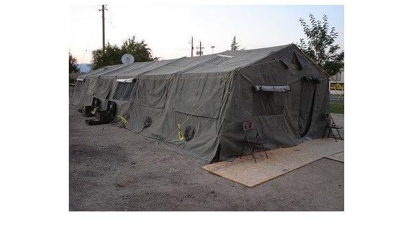 Amazon com : Military-Army Temper Tent 20' X 48' : Sports
