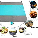 ranshani Beach Blanket - Huge Ground Cover 7' x 9' for 7 Adults Sand Proof Picnic Mat for Travel, Camping, Hiking and Music Festivals