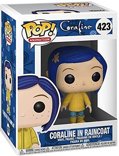 Includes Pop Box Protector Case Funko Pop Movies: Coraline Coraline in Raincoat Vinyl Figure