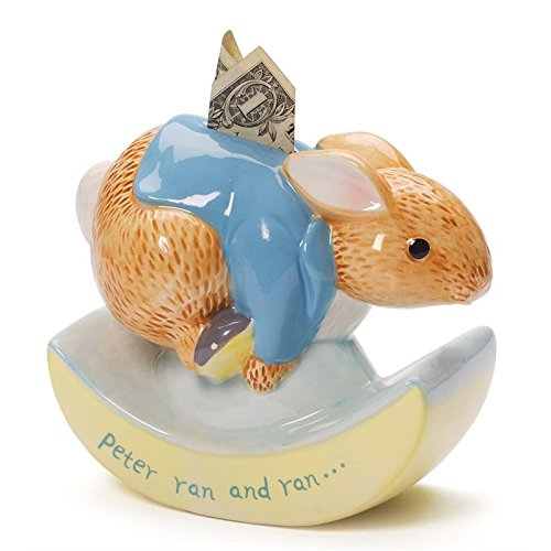 Gund Classic Beatrix Potter Peter Rabbit Rocking Bank (Bank Rabbit Peter)