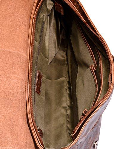 Fox Cuero Bandolera auténtico de Vintage búfalo Furryvinkat Oxford en Estilo el Bolso LEABAGS fxXPS4Z