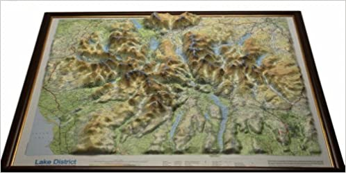 relief map of lake district Buy Lake District Raised Relief Map Dark Wood Framed Raised Relief Maps Series Book Online At Low Prices In India Lake District Raised Relief Map Dark Wood Framed Raised Relief Maps relief map of lake district