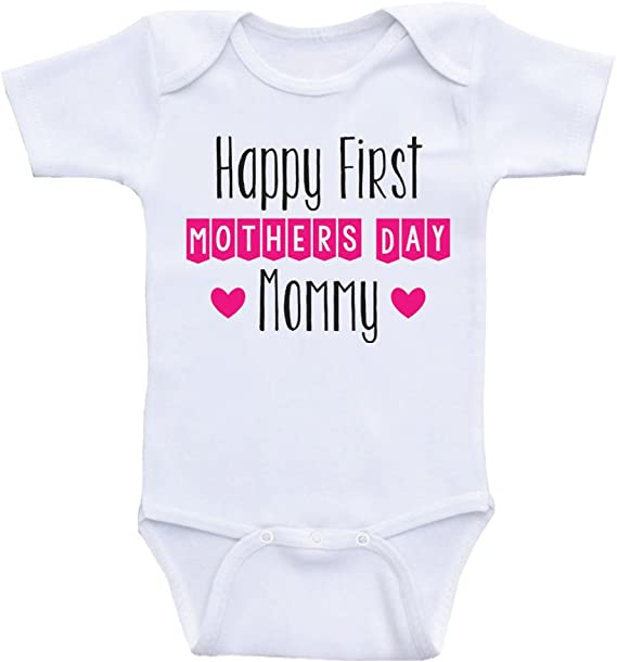 Baby Romper Kids Handwriting Happy 1st Mothers Day Mummy