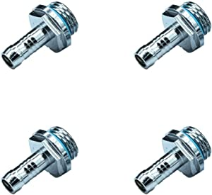 """ZERIRA 4 Pack G1/4"""" Male to Male Extender Fitting OD 9mm for Computer Water Cooling System"""