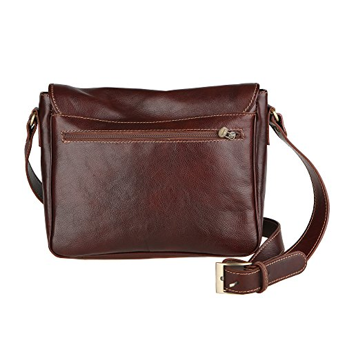 Shoulder Leather 32x28x8 Brown Cm In Organizer Chicca Bag Briefcase Made Unisex Genuine Italy Borse PZx8gnUxI