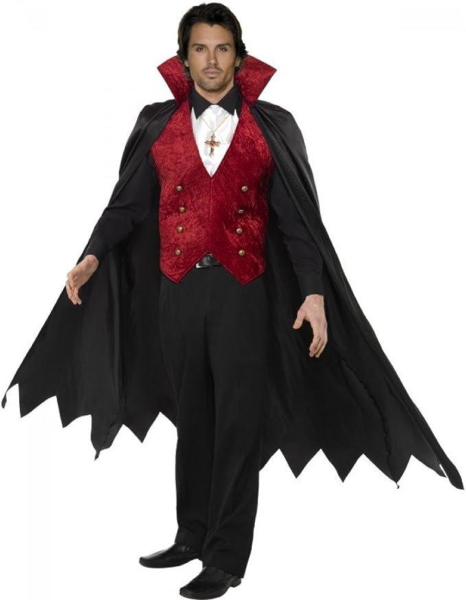Disfraz Halloween Carnaval Adulto Conte Vampiro Drácula Smiffys ...