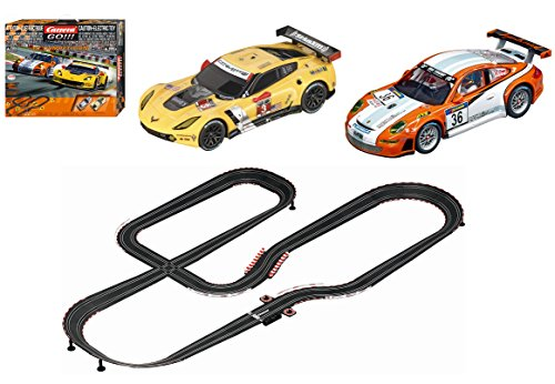 Carrera GO!!! GT Competition 1:43 Scale Electric Powered Slot Car Race Track Set System 28 Feet ()
