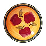 pasta bowls tuscan - Tuscan Country Apple Collection, Hand Painted, Large Pasta Bowl Salad Fruit 13-1/2