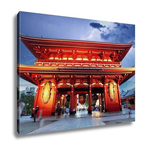 Ashley Canvas Sensojiji Red Japanese Temple In Tokyo