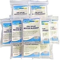 """Primacare HB-10 Emergency Foil Mylar manta térmica (paquete de 10), 52 """"de largo x 84"""" de ancho"""