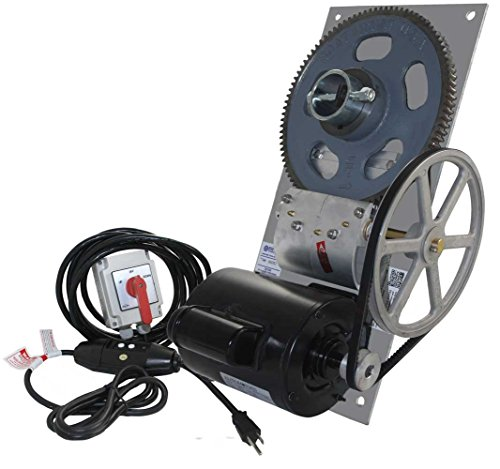 6,500 lb. Deluxe Flat Plate Boat Hoist Combo (One Box) - Powder Coated Plate/Maintained Switch / 110v / 16 ft. Control Cable