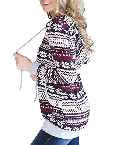 Donna E Tasca Coulisse Con Multicolor Da Felicigg Maniche Xl Marsupio A Size Lunghe Felpa Cappuccio color UXqEBpw