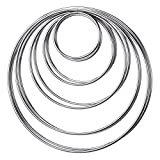 Shopready Metal Hoops Set of 10 Craft Rings Metal Rings for Dream Catcher and Wreath - Silver