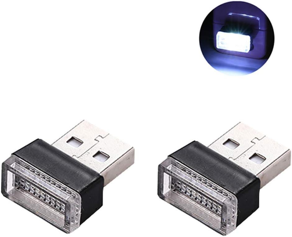 Charging for All Cars Night Light Mini Led Decoration Light Lipctine 2 PCS USB LED Car Interior Atmosphere Lamp Interior Led Lights Blue Ambient Lighting Kit