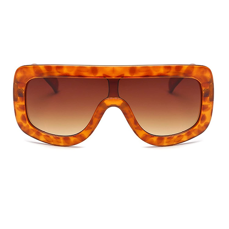 Amomoma Women's Fashion Flat Top Super Future Sunglasses Oversized Big Shield AM2006