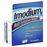 Imodium Antidiarrheal/Anti-Gas, Multi-Symptom Relief, Caplets, 42 ct.