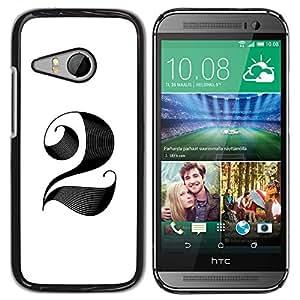YOYOYO ( NO PARA HTC ONE M8 ) Smartphone Protección Defender Duro Negro Funda Imagen Diseño Carcasa Tapa Case Skin Cover Para HTC ONE MINI 2 M8 MINI - estilo de pelo para ser 2