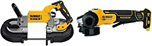DEWALT 20V MAX Portable Band Saw, Deep Cut, Tool Only (DCS374B) & DCG413B 20V MAX Brushless Cut Off Tool/Grinder (Tool Only)