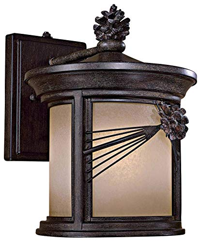 Minka Lavery Minka 9152-A357-PL Transitional One Light Wall Mount from Abbey Lane Collection in Bronze/Darkfinish 1 Outdoor, Upc-747396080536 (Outdoor Abbey Light Wall)