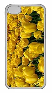 iPhone 5C Case, Personalized Custom Yellow Tulips 3 for iPhone 5C PC Clear Case