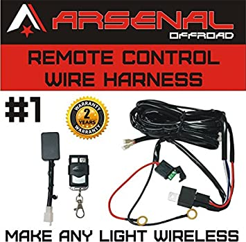 51REYsl%2BFpL._SX355_ amazon com wireless remote control universal wiring harness off how to make a light bar wiring harness at fashall.co
