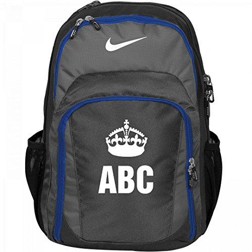 Custom Monogram/Initials Keep Calm Crown Backpack: Nike Performance Backpack by Customized Girl