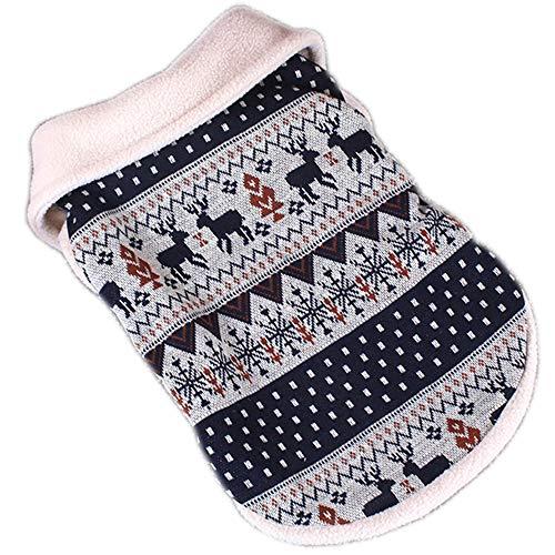 Berber Dog Coat - Korx Reindeer Dog Sweaters Berber Fleece Coat Festive Christmas Warm Dogs Clothes(S-XXL)