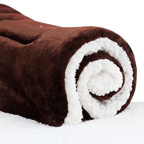 Micat® Super Soft Fleece-Haustier-Bett Bettdecken Welpen-Hundekatze Kissen Mats Vary von 9 Arten von Designs (L: 70*55cm, 007)