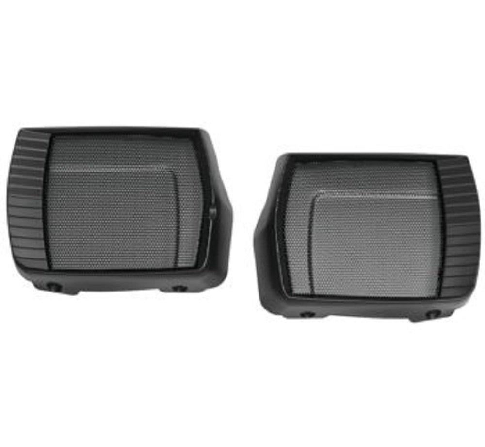 Kuryakyn Aztec Speaker Grills Compatible for Roadmaster 2017-2019 Satin Black