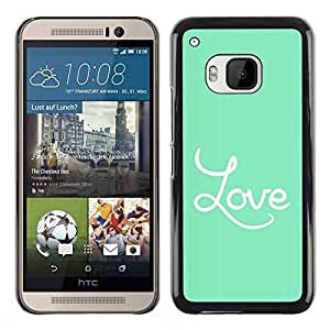 LASTONE PHONE CASE / Slim Protector Hard Shell Cover Case for HTC One M9 / Headphones White