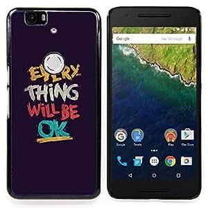 Stuss Case / Funda Carcasa protectora - Cosa Será Texto Ok motivación - Huawei Google Nexus 6P