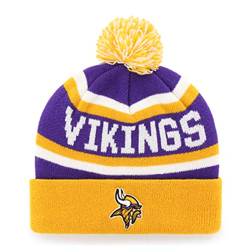Minnesota Vikings Winter Hat (OTS NFL Minnesota Vikings Men's Jasper Cuff Knit Cap with Pom, Team Color, One)