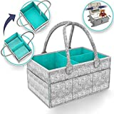 Muswanna Baby Diaper Caddy Organizer, Nursery Storage Bin for Diapers Baby Wipes Toys Changing Table Diaper Change Storage Ba