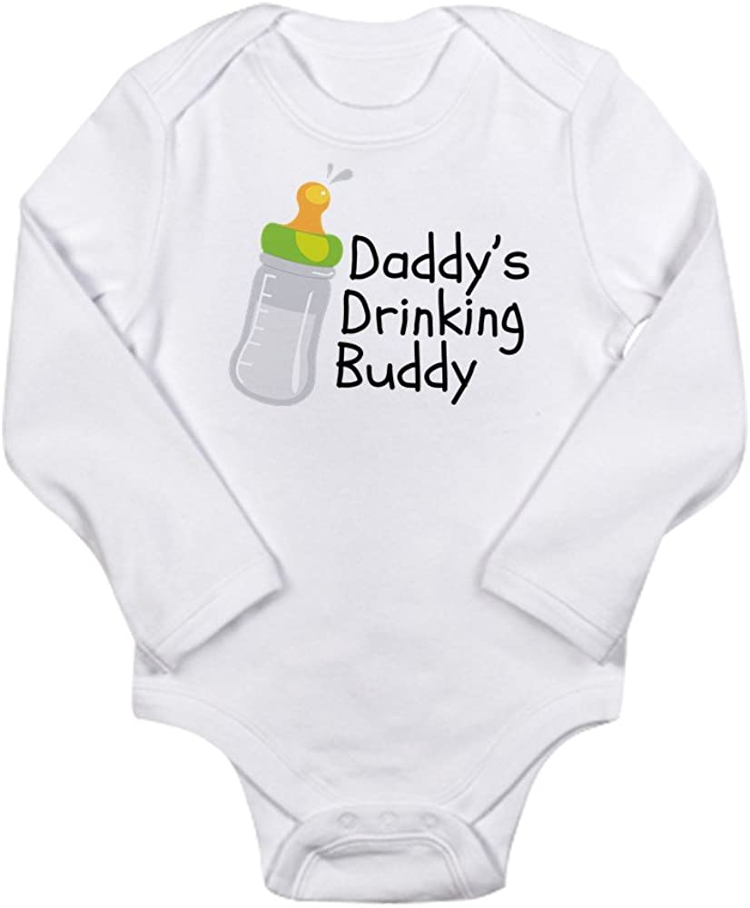 CafePress Daddys Drinking Buddy Body Suit Cute Long Sleeve Infant Bodysuit Baby Romper Cloud White