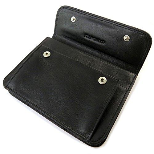 Wallet leather belt Lafayettenero (11x15x2.5 cm).