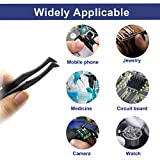 TOUHIA 10pcs Anti-Static Plastic Tweezers with