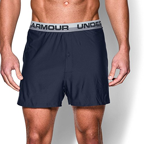 Under Armour Men's Original Series Boxer Shorts, Midnight Navy/Anthracite, X-Large - Dry Boxers