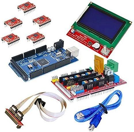 Goliton CNC Kit de impresora 3D Para Arduino Mega 2560 R3 ...