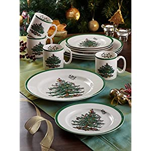 Spode Christmas Tree Mug, Set of 4