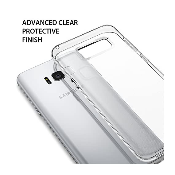 Ringke AIR for Samsung Galaxy S8 2017 2 Lightweight protection thin as air yet strong to protect from daily use scratches. Secure your phone with protection without any unnecessary hassle or bulk. Supports Qi Wireless Charging without the hassle of having to remove the case for Samsung Galaxy S8. Flexible & strong TPU offers durability and defense for minimal daily bumps and scratches. Dual active coverage includes inner corner cushions to protect the phone Enhance and reveal the natural shape with Ringke's highest engineering technology for precise tailored cutouts is designed for impeccable perfect fit.