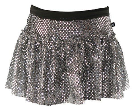 Metal Womens Skirt (Gunmetal Sparkle Running Skirt M)