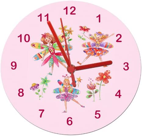 Tigerlilyprints pink fairy clock