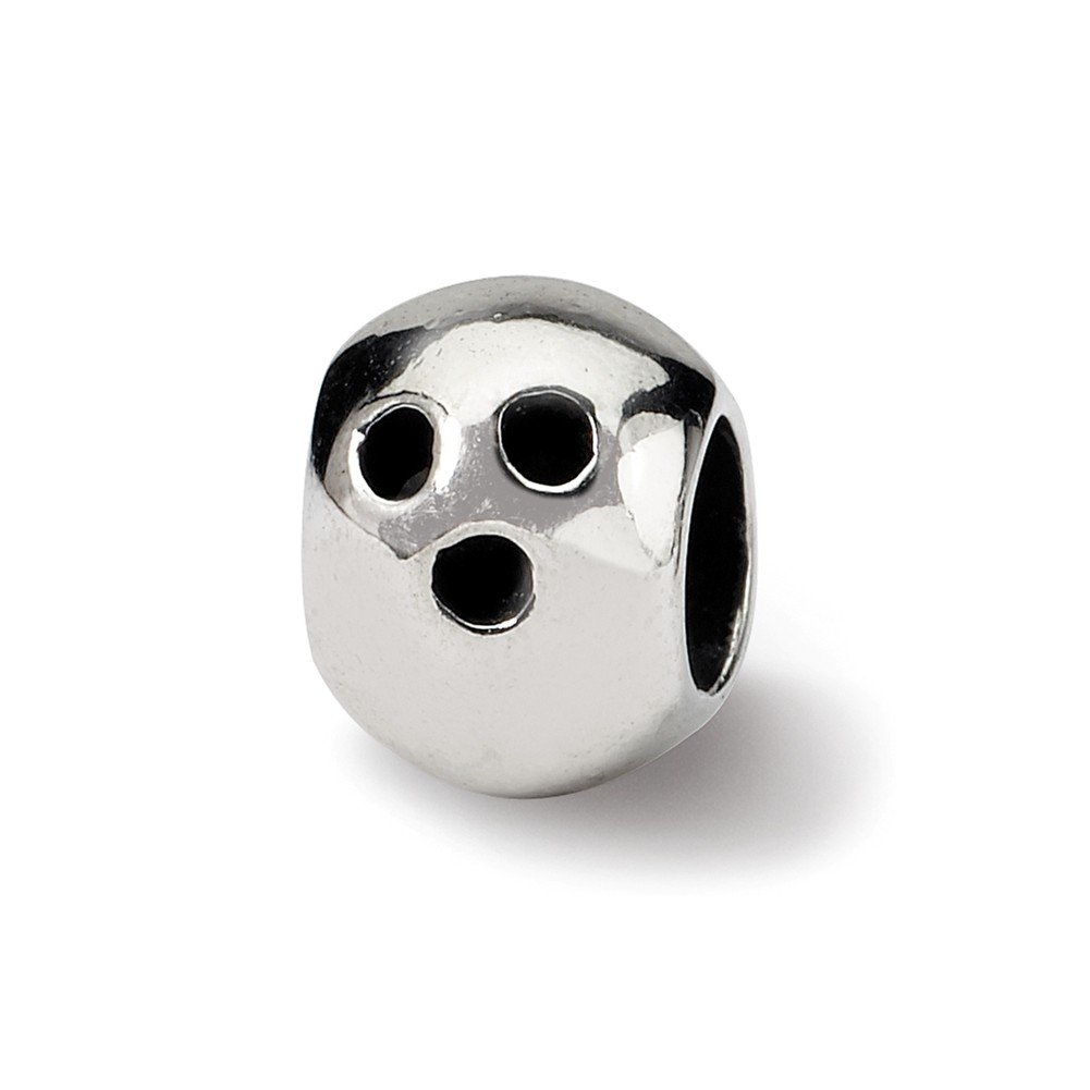 Reflection Beads Sterling Silver Bowling Ball Bead 9 x 7 mm