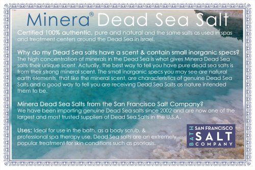 Minera Dead Sea Salt, 100% Pure & Certified