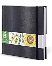 """Ohuhu Marker Pads Art Sketchbook, 8.3""""×8.3"""", Portable Square Size, 120 Lb/200 Gsm Heavy Smooth Drawing Papers, 78 Sheets/156 Pages, Hardcover Sketch Book, Specially Designed For Alcohol Markers"""