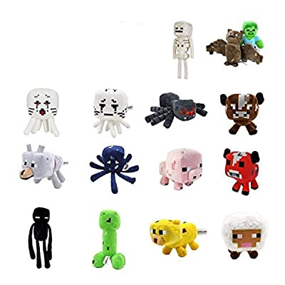 Toys Minecraft Creeper Enderman Wolf Steve Zombie Spider Sketelon from J&K Collectibles